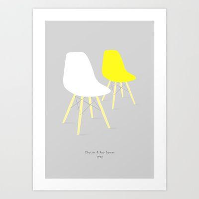 Eames x2 #6 Art Print by bittersweat - $20.00