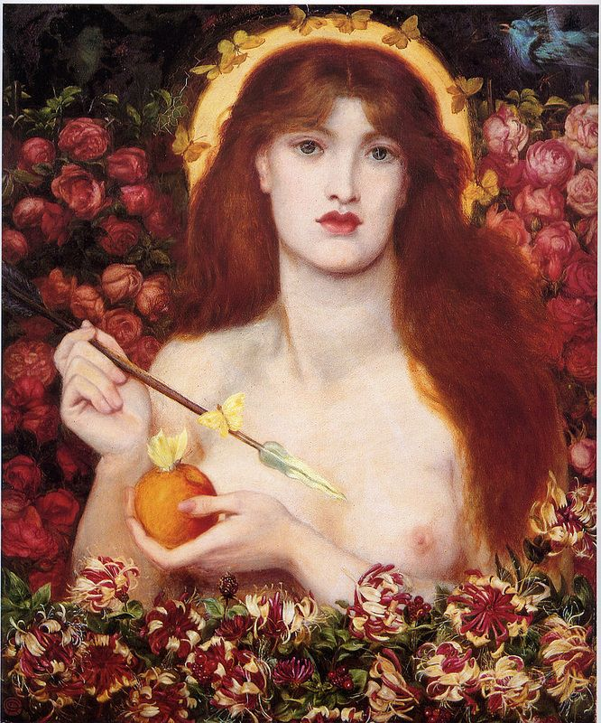 Dante Gabriel Rossetti - Venus Verticordia [1863-68]