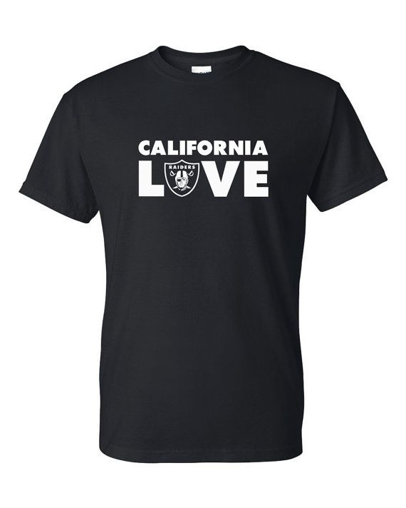 Thanks for checking out our shop. This listing is for a mens Oakland Raiders California Love t-shirt and is perfect for any Raiders fan! All of our items are custom made when you place your order so please allow up to one week for production plus time in shipping.    Have questions? Please feel free to send us a message.