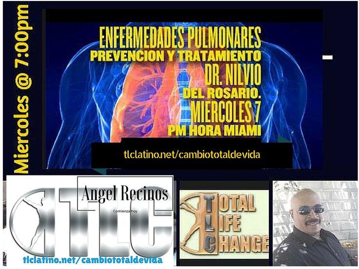Hoy Miércoles DIA 20 de Enero @ 7:00pm-Hora Miami EDICIÓN ESPECIAL - Presentación CORTA  Colaboración con el Dr. Nilvio del Rosario de Boston, www.tlclatino.net/cambiototaldevida
