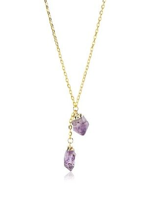 55% OFF Privileged Double Amethyst Crystal Necklace