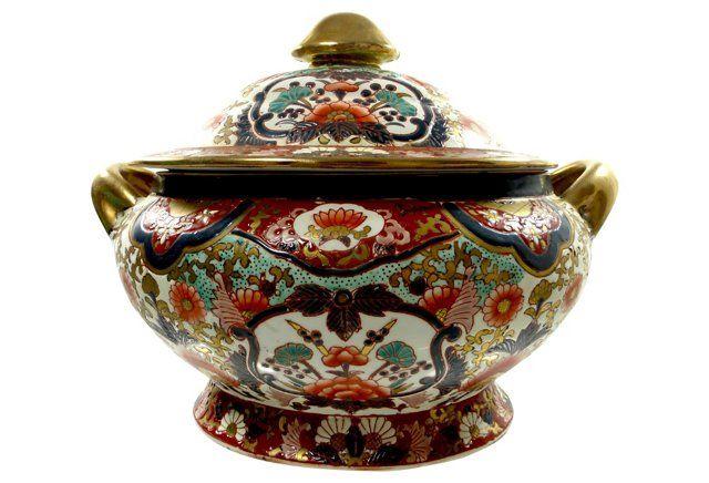 Midcentury Chinese Porcelain Tureen