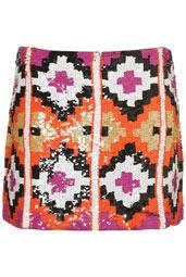 Jupe haut de gamme à motif aztèque pailleté