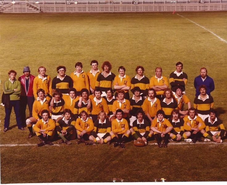 My Dad's Cal Poly rugby team in the stripes with Magor Wales in the Yellow after a game in '78 http://ift.tt/2ws9qZp