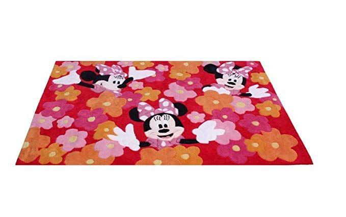 Kinder Teppich Kinderteppich mit Minnie Mouse / Minnie Maus ...