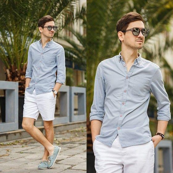 Asos Shirt, Asos Shorts, Chatham Shoes, Asos Sunglasses, Daniel Wellington Watch
