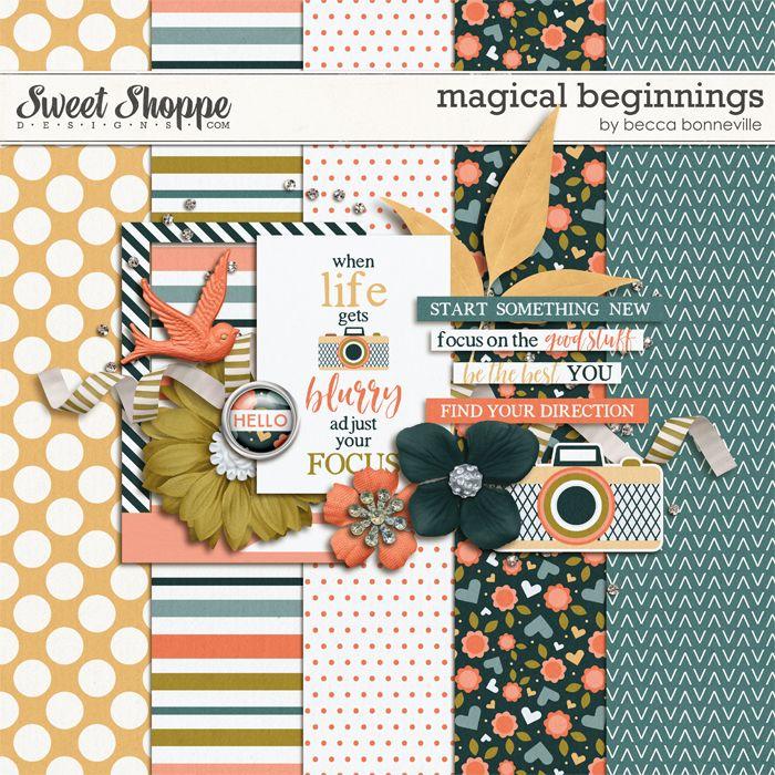 FREE Magic of Beginnings gorgeous mini-kit by Becca Bonneville