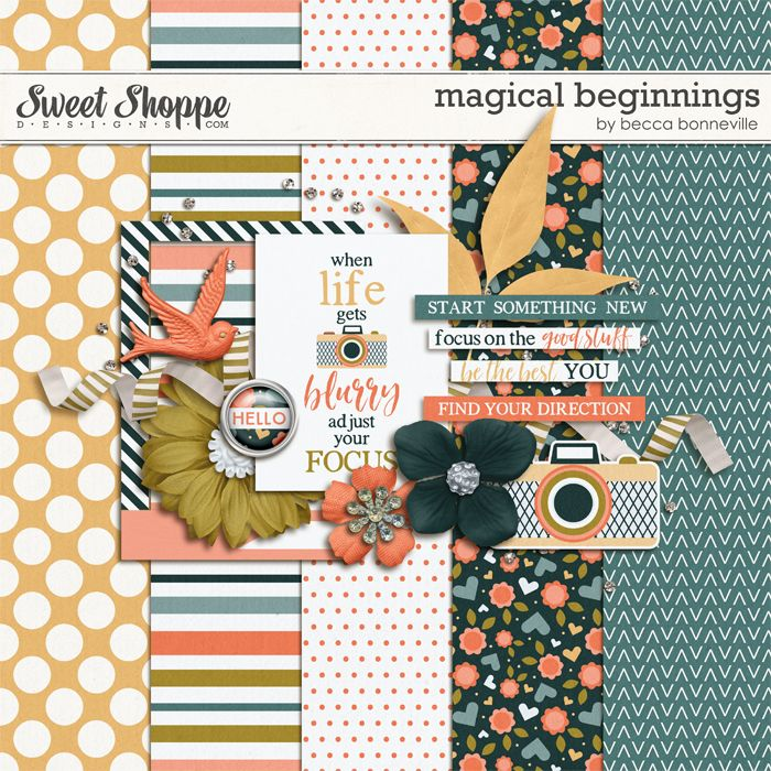 FREE Magic of Beginnings gorgeous mini-kit by Becca Bonneville