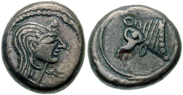 MÖ 5. yüzyıla ait Kolkhis sikkesi -  Ön yüzünde Kolkhisli kadın (Lazlar anaerkildi), arka yüzünde ise Mjora/ Güneş'in ve Güneş soyunun en kutsal simgelerinden boğa.