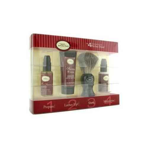 Starter Kit - Sandalwood: Pre Shave Oil + Shaving Cream + Brush + After Shave Balm 4pcs