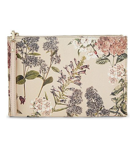 WHISTLES Hydrangea Print Leather Pouch. #whistles #purses & pouches