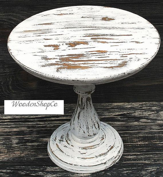 Custom Round Cake Stand Rustic cake stand Wooden by WoodenShopCo