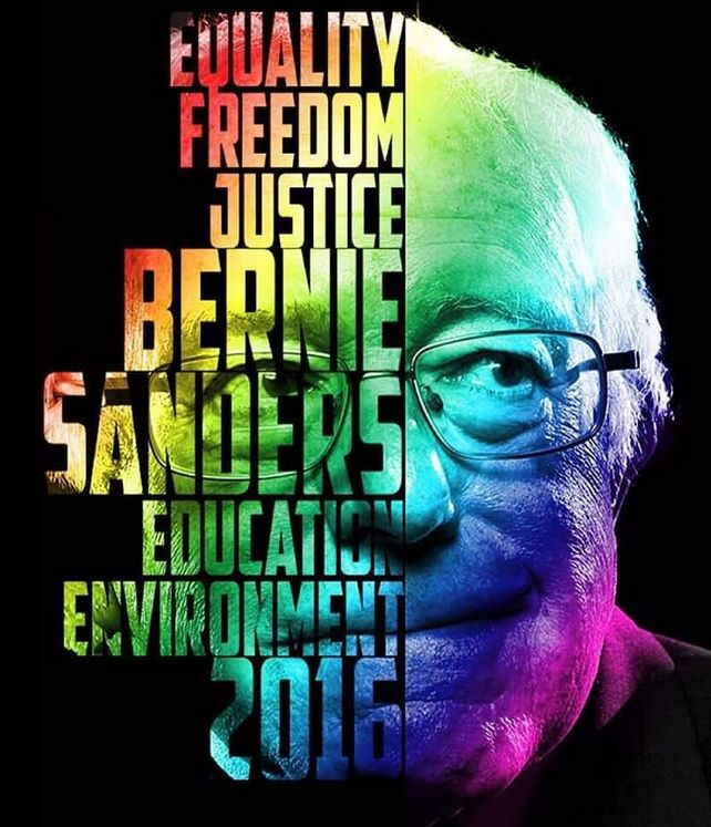 Equality. Freedom. Justice. Education. Environment. Bernie Sanders 2016!   #FeelTheBern #Vote #Bernie2016