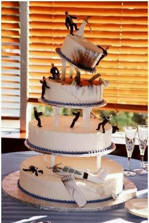 A Mans Wedding Cake