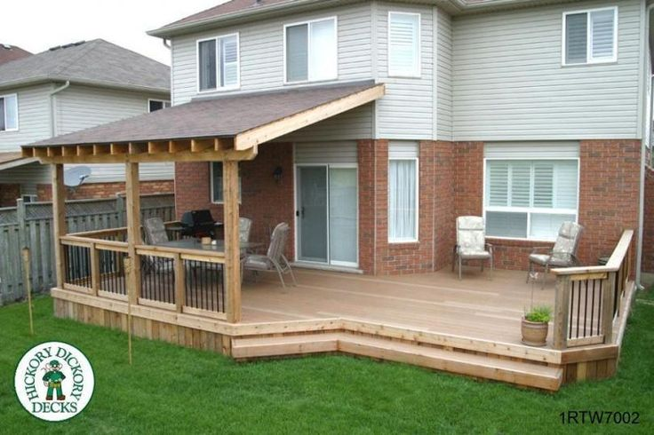 Simple covered deck house inspiration pinterest the for Roof deck design