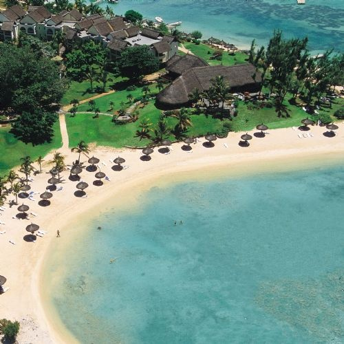 Le Cannonier, Mauritius is located in the north west of the island about 50 miles from the airport. It is set on an historic headland with an ancient lighthouse, the ruins of a fort are complete with cannons and the spa is set in a giant tree. It is great for couples and families and has great beaches