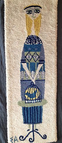 Vintage Evelyn Ackerman Mid Century Modern Tapestry