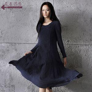 Condiții de viață în mâna stângă - brodate lenjerie rochie cu mâneci lungi Slim 9431010101