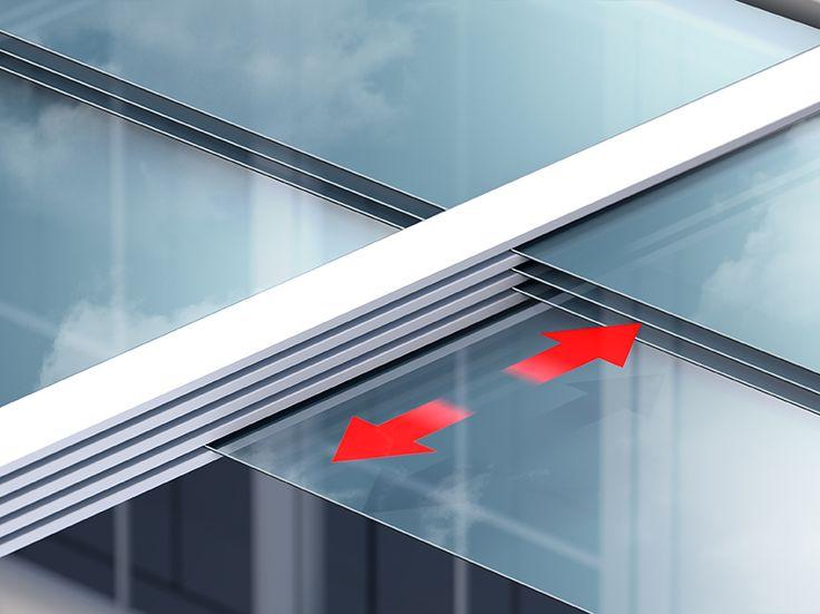 Die einzelnen Glas-Segmente lassen sich ganz individuell untereinander schieben.  (Quelle: Joka)