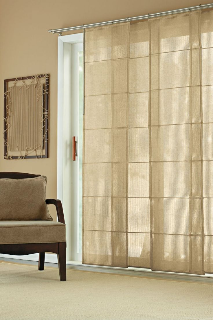 Furniture and Accessories. Beautiful Inspiring Traditional-Look Modern Vertical Sheer Sliding Panel Window Covering Ideas for Home Interior ...