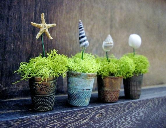 miniature curio cabinet wares