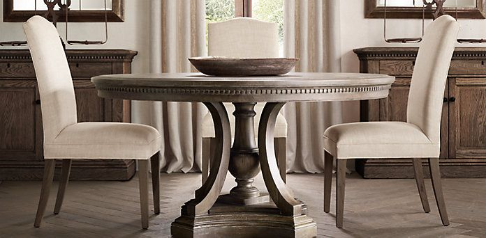 Restoration Hardware St James Collection 2 Sizes 3 Finishes Shown In Antiqued Coffee Starting At 1195 Ls Dining Room