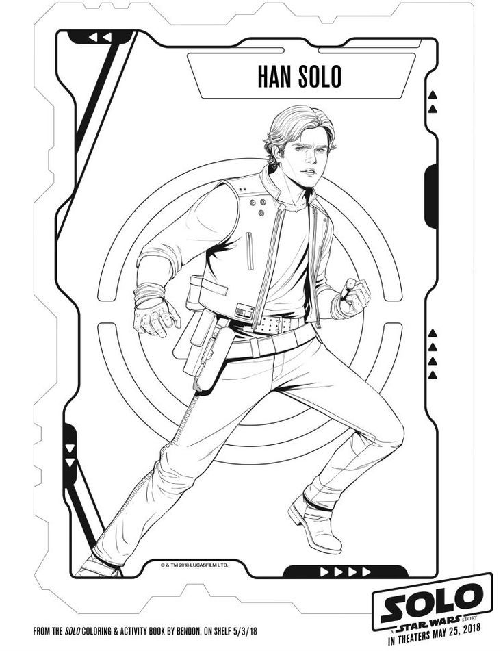 Han Solo Coloring Page Free Printable From Solo A Star Wars