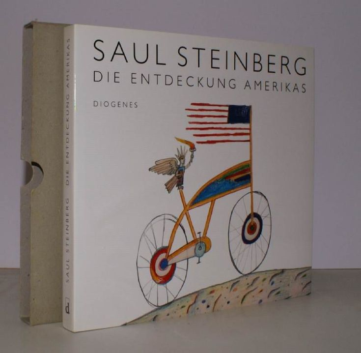 Die Entdeckung Amerikas.  FINE COPY IN UNCLIPPED DUSTWRAPPER WITH SLIP-CASE by Saul STEINBERG  Diogenes, [Zurich,, 1992].  Oblong 4to.,  First Edition , with very numerous coloured full-page illustrations in the text