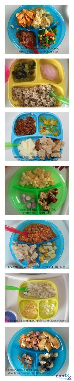 Food Ideas: Feeding a One Year Old  A variety of different food ideas to help come up with meal ideas for your toddler