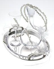 Μπουκάλια, ποτήρια & δίσκοι Wedding bottles, Glasses & trays