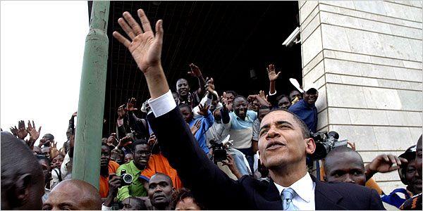 #Senator #Days  #44thPresident #BarackObama greeted crowds in #Kenya #Nairobi near where the United States Embassy stood before a bombing destroyed it in 1998 (August 28, 2006)  #ObamaHistory #ObamaLibrary #ObamaFoundation Obama.Org