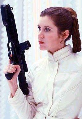 Star Wars - The Empire Strikes Back -  Princess Leia Organa - Large Blaster - Carrie Fisher - gun