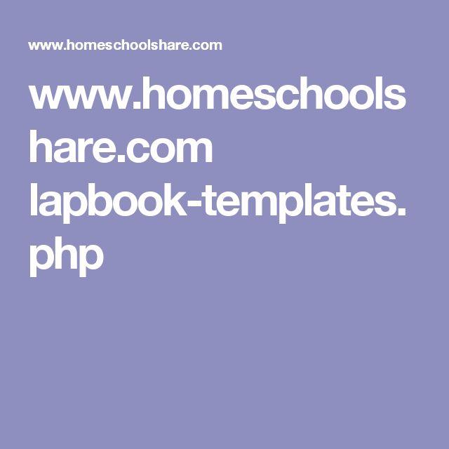 www.homeschoolshare.com lapbook-templates.php