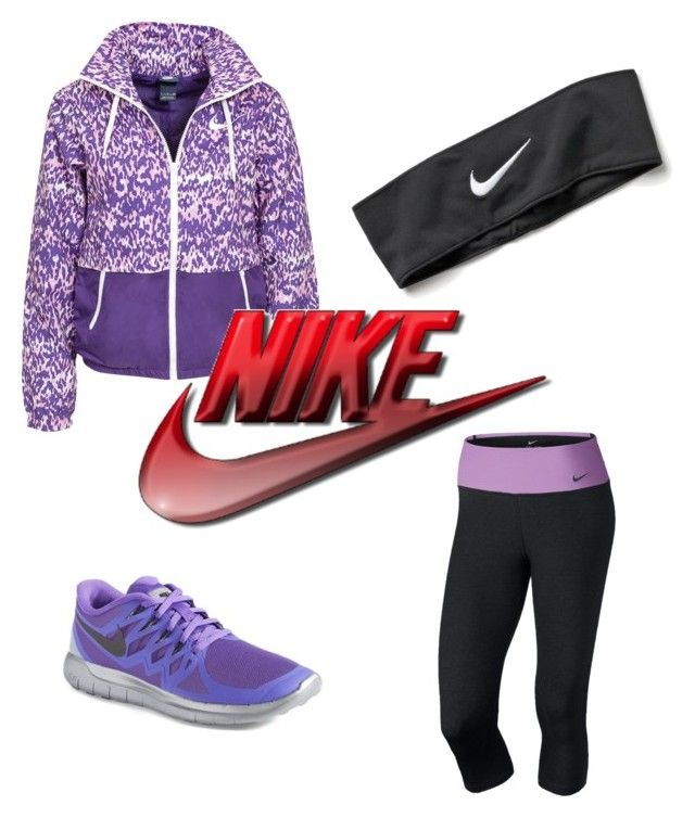"""""""The Nike Look #1"""" by mermaidchipy ❤ liked on Polyvore featuring NIKE"""