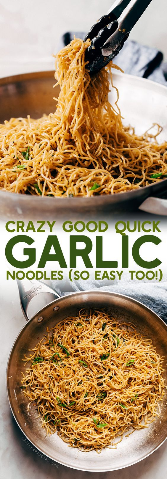 Crazy Good Quick Garlic Noodles - a quick 15 minutes for garlic noodles! These noodles are a fusion recipe and have the BEST flavor! Made on 02-27-2018 added cabbage and yellow bell pepper