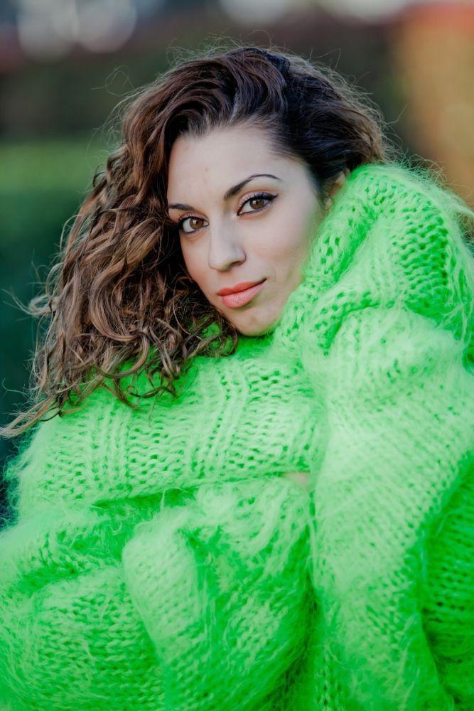 Custom Order Cowl Neck Mohair Sweater ,Hand Knitted Dress,Maxi Fluffy Angora T4 #TiffyMohair #CowlNeckSweaterDress