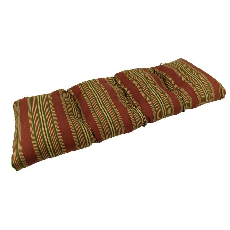 Lava Sweetwater Stripe Sunbrella Outdoor Bench/Glider Cushion - LAVA26-0035