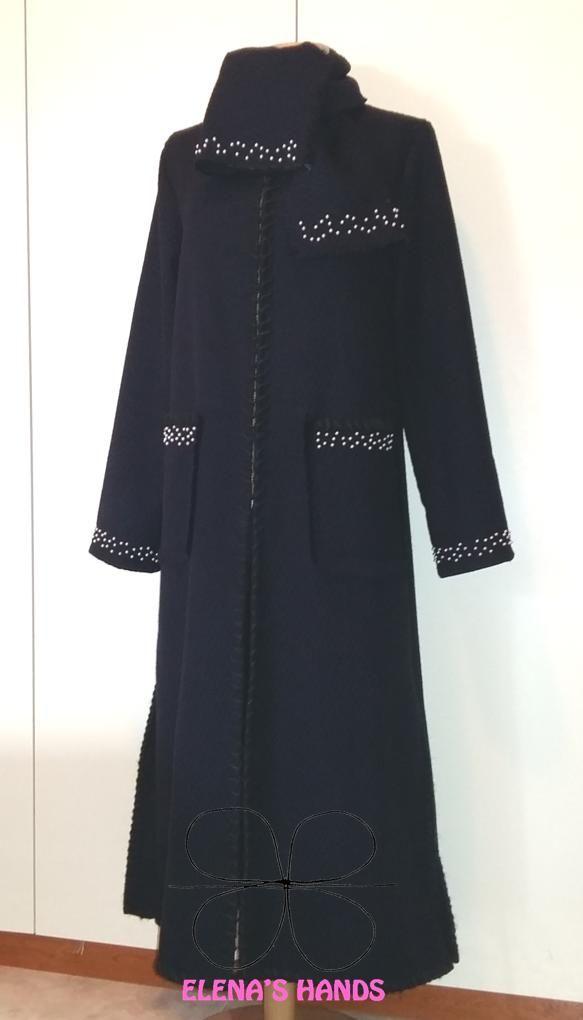 Cappotto creazione propria decorato a mano #elenashands #capotti #moda #modadautore