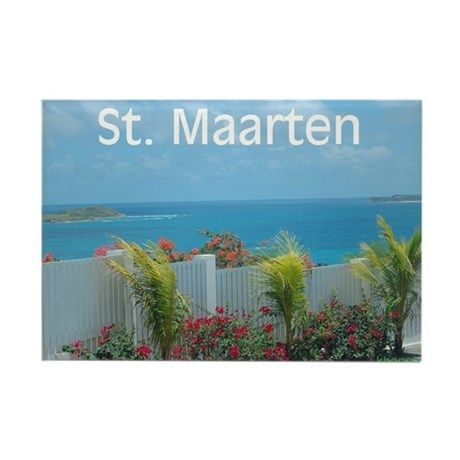 St. Maarten Seascape Rectangle Magnet by Khoncepts (sold TN) Thank you!
