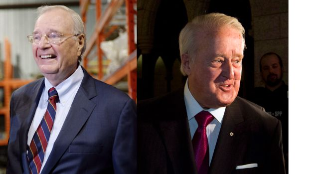 Former prime ministers Paul Martin, left, and Brian Mulroney have connections to the offshore world that show up in the Paradise Papers.