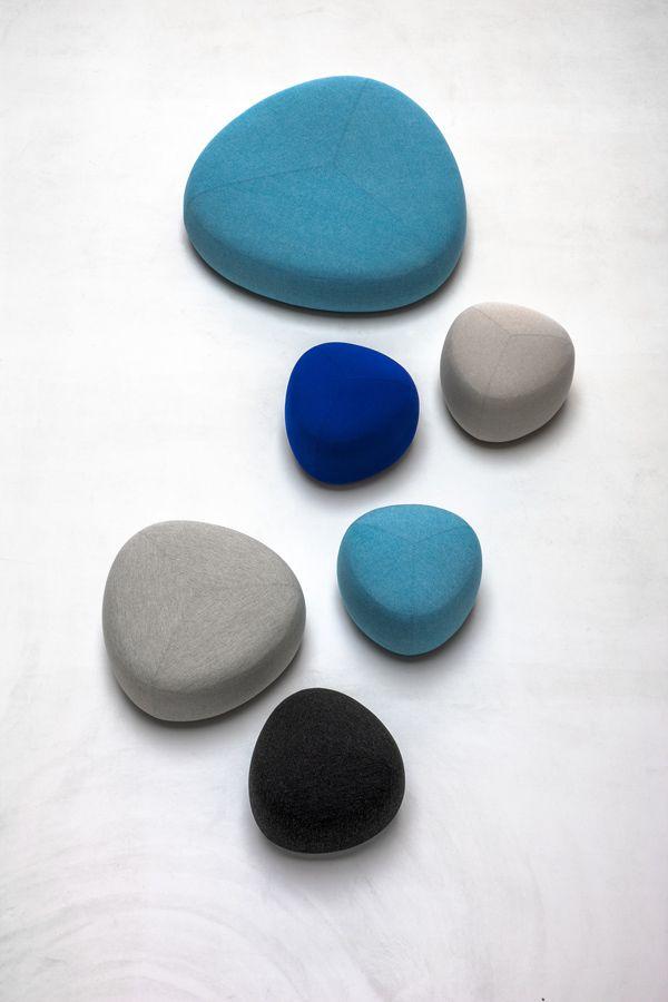 Upholstered fabric pouf KIPU KIPU Collection by Lapalma | design Torbjørn Anderssen, Espen Voll
