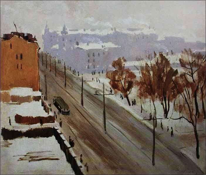 Ведерников А. Город зимой 1936 г.