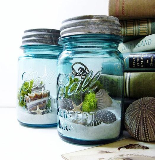 aqua ball jar gardens