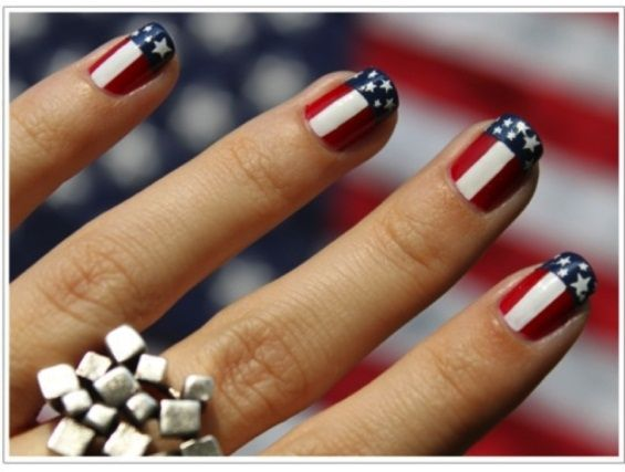 patriotic nails - Google Search