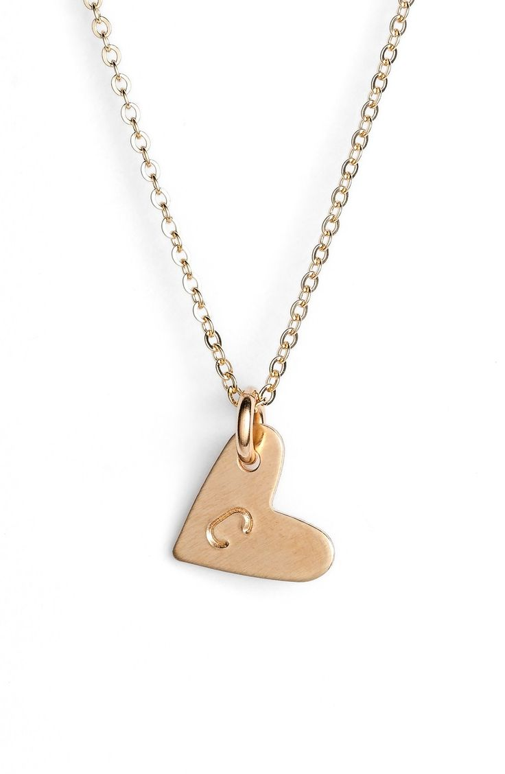 initial heart pendant necklace @nordstrom #nordstrom