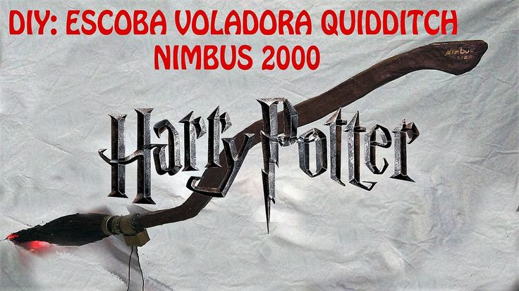 DIY ESCOBA HARRY POTTER NIMBUS 2000.