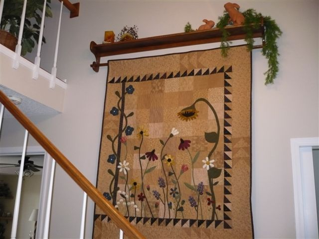 """""""The Wild Flowers"""" quilt from Primitive Gatherings"""