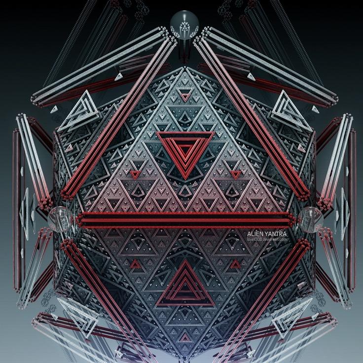 Alien Yantra. sacred geometry metatrons cube
