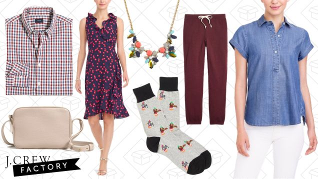 J.Crew Factory Has Extra Discounts On Their Entire Sale Section