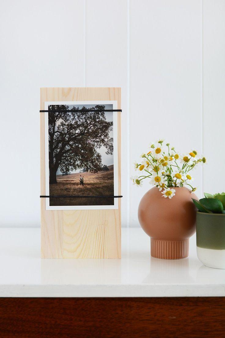 Super Süße Idee Und Total Einfach Umzusetzen | Deko Aus Holz Basteln |  Fotohalter | Bilderrahmen